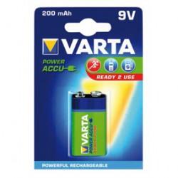1x Oplaadbare 8,4V Blok Batterij 200mAh. (Type 9V)