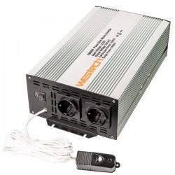 Sinus Omvormer 12V naar 230V - 2000 / 4000 Watt met Afst. bed.
