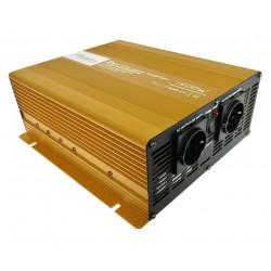Sinus Omvormer 12V naar 230V - 1500 / 3000 Watt + Afst.bed.