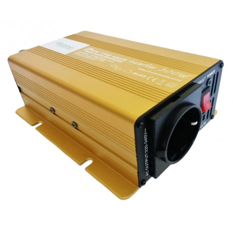 Sinus Omvormer 12V naar 230V - 300 / 600 Watt