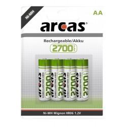 4x 2700mAh AA Oplaadbare Batterijen Penlite