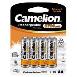4x 2700mAh AA Oplaadbare Batterijen Penlite incl. Opbergbox
