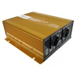 Zuivere Sinus Omvormer 24V naar 230V - 1500 / 3000 Watt met Afstandsbediening