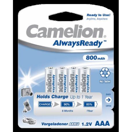 4x AAA 800mAh Oplaadbare Batterijen Ready-To-Use Potlood