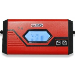 Intelligente 12V Acculader 3,5 + 7A LCD Display + Lithium