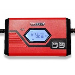 Intelligente 6V/12V Acculader 1+4A LCD Display + Lithium