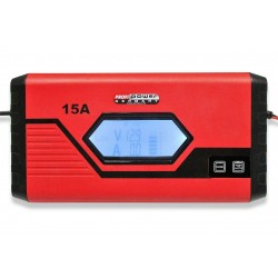 Intelligente 12V Acculader 7,5 + 15A LCD Display + Lithium + Voeding