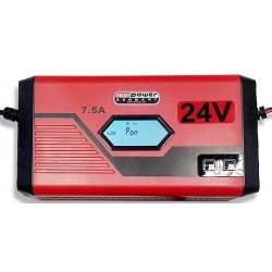 Intelligente 24V Acculader 4 + 7,5A LCD Display + Lithium