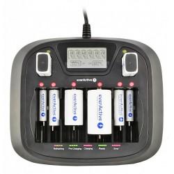 Multi LCD Snellader voor NiMH Batterijen + USB
