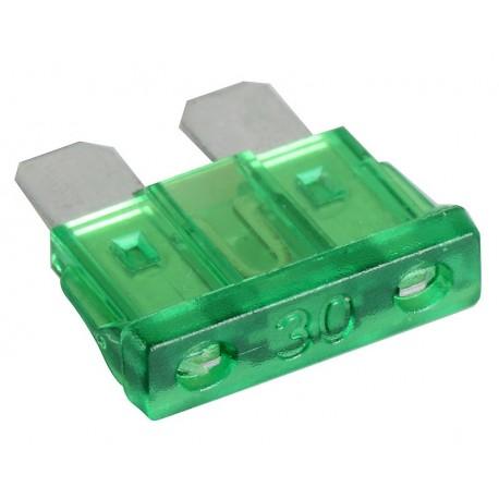 Steekzekering 30A Groen 5-stuks