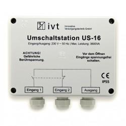 Omschakel Automaat 16A voor Walstroom of Paalstroom