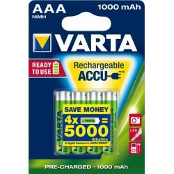 4x AAA Oplaadbare Batterijen (vanaf € 275,-)