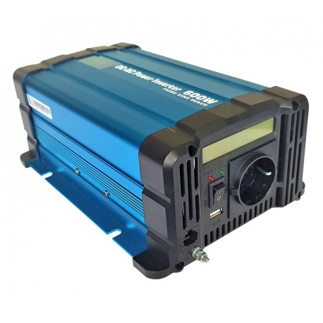 Sinus Omvormer 12V naar 230V - 600 / 1200 Watt