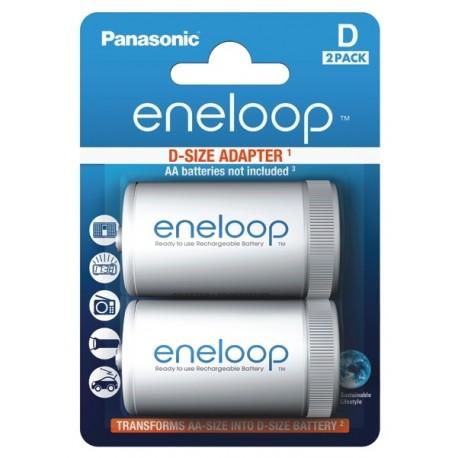 2x handige D Adapters voor AA Batterijen