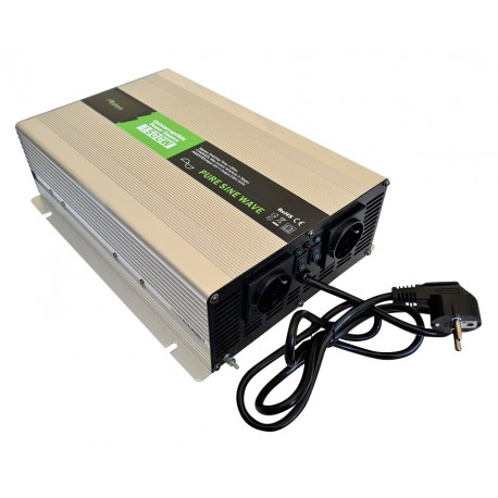 Sinus Omvormer Acculader 12V naar 230V 1500 / 3000 Watt + Afst. Bed.