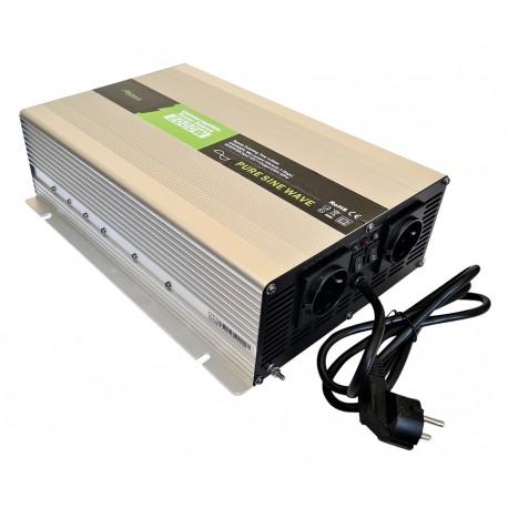 Sinus Omvormer Acculader 12V naar 230V 2000 / 4000 Watt + Afst. Bed.