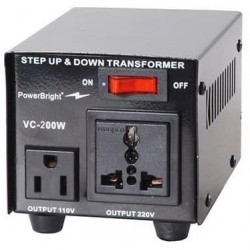 Spannings omvormer 110V & 230V 200 Watt, ook 100V Japan