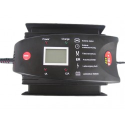 Luxe 24V Acculader LCD Display 1+12 Amp.