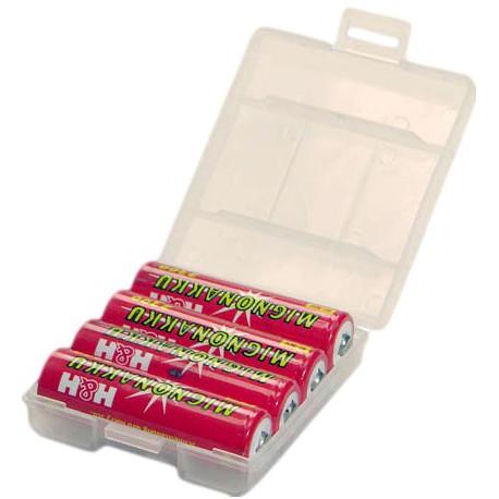 Opberg Doosje voor 4x AA of AAA batterijen (vanaf € 100,-)