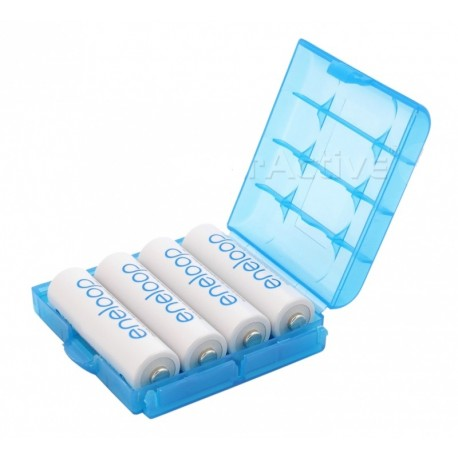 Duurzaam Opbergdoosje voor 4 AA of AAA Batterijen