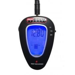 Tester voor accu's 6V, 12V & 24V LCD Battery Control