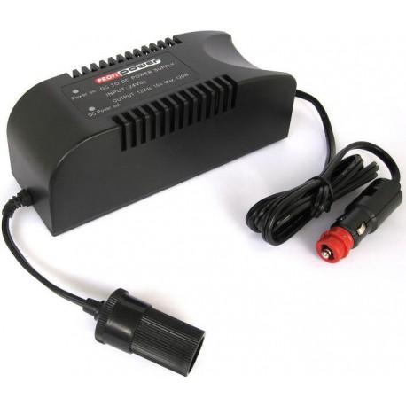 Omvormer 24 Volt naar 12 Volt - 10Ampere 120Watt via Car-Plug
