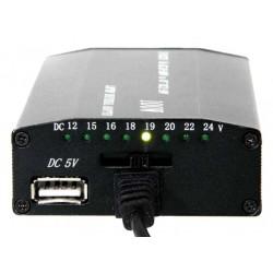 Omvormer 12V / 230V naar 12V tot 24V 4A + USB
