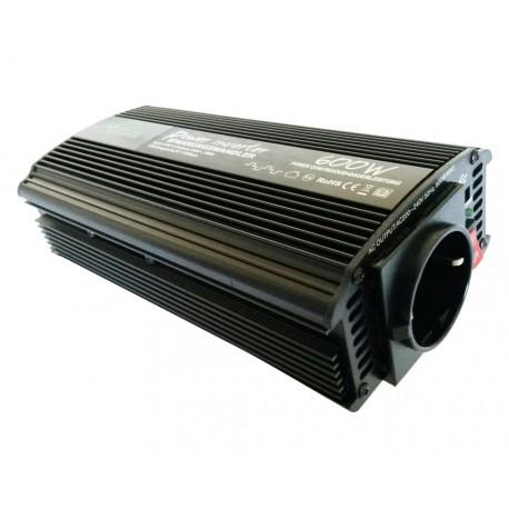 Omvormer 24V naar 230V - 600 / 1200 Watt.