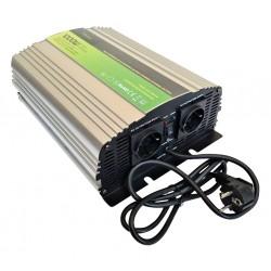 Sinus Omvormer Acculader 12V naar 230V 1000 / 2000 Watt.